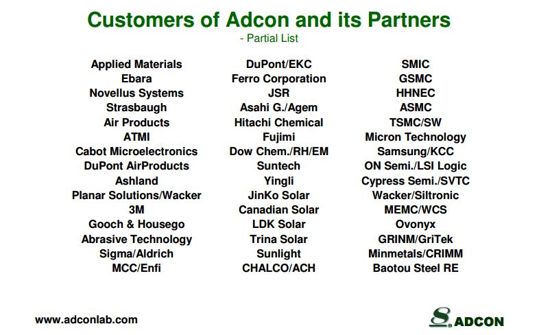 adcon customers